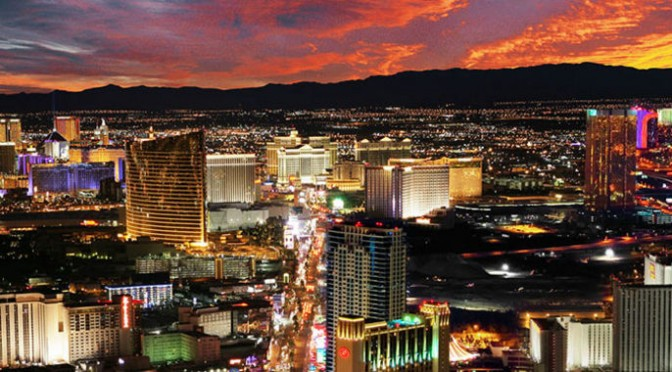Utsikt över Las Vegas